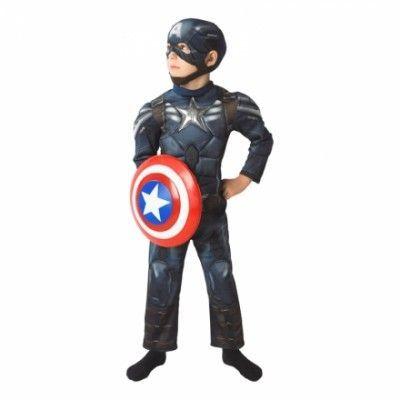 Captain America Deluxe Barn Maskeraddräkt