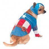 Captain America Hund Maskeraddräkt