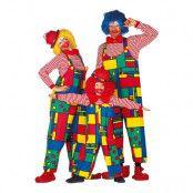 Clown Hängselbyxor - One size