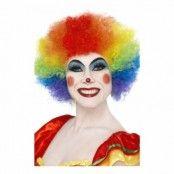 Clownperuk Regnbågsfärgad - One size