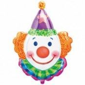 Jonglerande clown folieballong - 84 cm