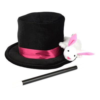 Magisk Hatt med Kanin & Trollspö - One size