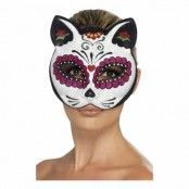 Sugar Skull Katt Ögonmask - One size