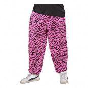 80-tals Baggy Byxor Zebra Rosa - Medium/Large