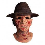 Mask Deluxe Freddy med Hatt - One size