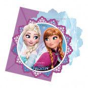 Inbjudningskort Disney Frost/Frozen - 6-pack
