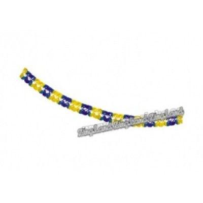 735c50aa09f Girlang, blå/gul - Halloweenbutiken