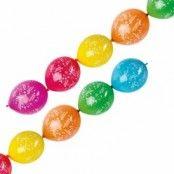 Happy birthday girlang ballonger - 28 cm Latex - 6 st