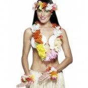 Hawaii-girlang set - multifärgat