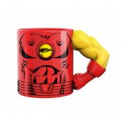 Marvel Mugg Med 3D-Arm Iron Man
