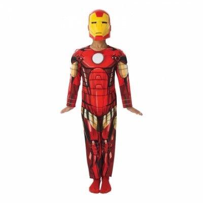 Avengers Iron Man Barn Maskeraddräkt Gul Mask