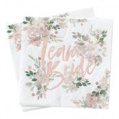 Servetter Team Bride Blommor - 16-pack