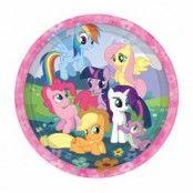 My Little Pony runda papperstallrikar 23 cm - 8 st