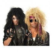 Heavy Metal Rockare Peruk - Svart