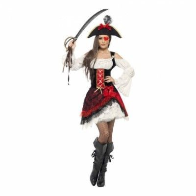 Hjärter Pirat Maskeraddräkt - Small