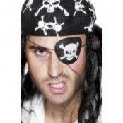 Pirat ögonlapp - med dödskalle