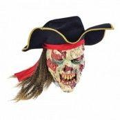 Zombie Pirat Mask med Hår