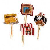 Partypicks Pirat - 12-pack