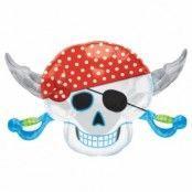 Pirat party stor dödskalle folieballong till födelsedagen 71 cm