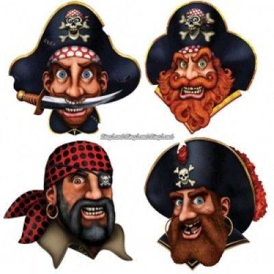Piratbesättning Cutouts - 4 st