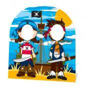 Pirater Stand-In Kartongfigur för Barn