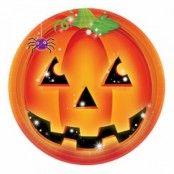 Halloween Pumpa Papptallrikar