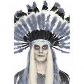 Spöklik indian huvudbonad