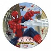 Papptallrik Ultimate Spiderman