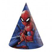 Partyhattar Spider-Man - 6-pack