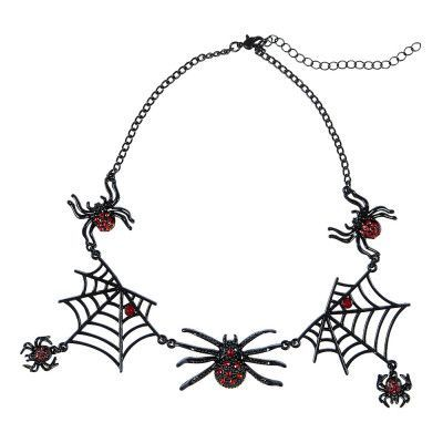 Halsband Svart med Spindlar