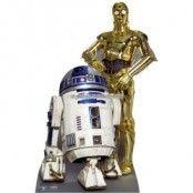 Star Wars R2D2 och C3PO pappfigur - 166cm