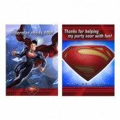 Superman Inbjudningskort