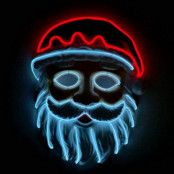 El Wire Santa LED Mask