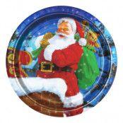 Papperstallrikar Jultomte - 8-pack