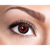 Färgade linser Red Scratch