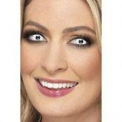 Zombie 1 dags kontaktlinser - Vit