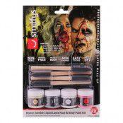 Zombie Flytande Latex Ansikts- & Kroppsfärg Kit